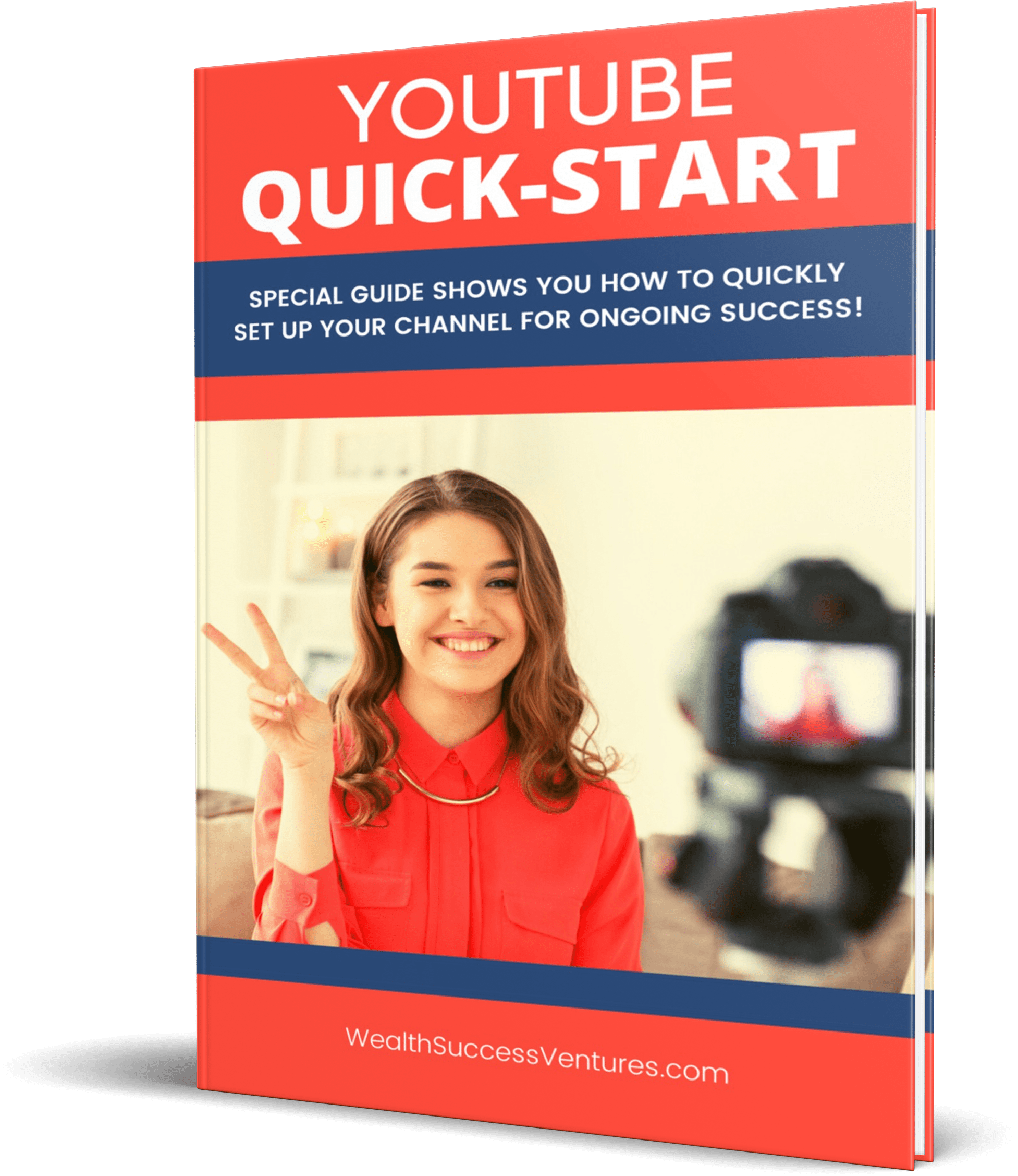 Youtube Quick Start Guide Female Red Top thin hardcover eCover